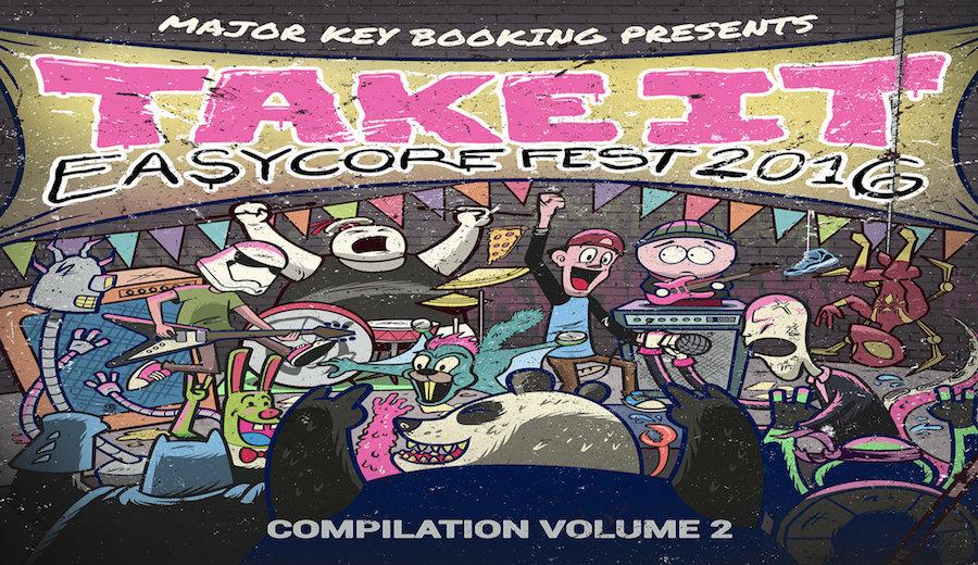このメンツすごすぎ!良質なポップパンクバンドばかりが集まったコンピレーションアルバム「Take It Easycore Fest 2016」
