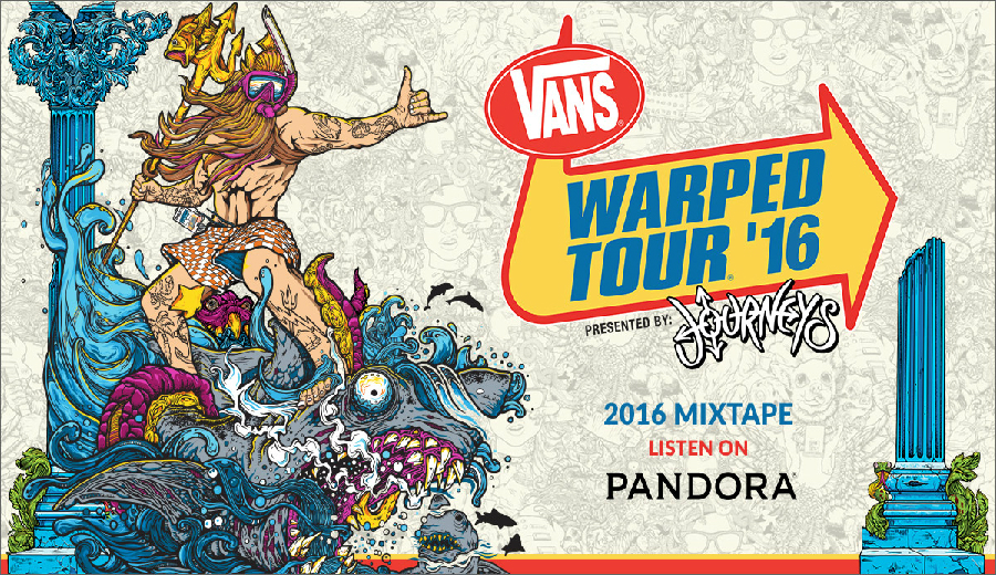 パンク好きはぜったい買うべきなコンピ「Warped Tour 2016」の参加バンドが発表されました!